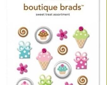 Doodlebug Design - Boutique Brads - Assorted Brads - Sweet Treat Assortment
