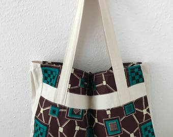 Wax and canvas tote bag
