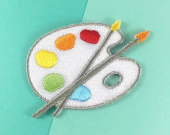 Paint Palette Iron On Patch