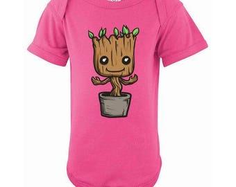 Baby Groot Baby Onesie