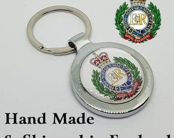 Made to Order Royal Engineers Key Ring - A Great Gift