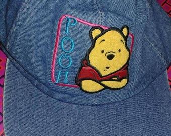 Vintage Winnie The Pooh Denim Hat