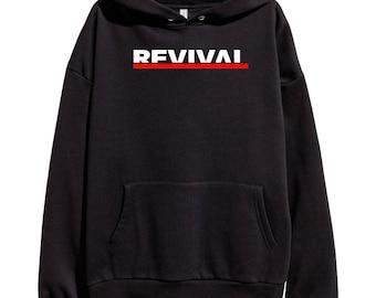 Eminem Revival Official Logo Hoodie Classic Hip Hop Rap Vintage Style Sweatshirt Revival Slim Shady Records Aftermath Entertainment Detroit