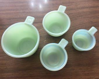 Set of jadeite measuring cups !