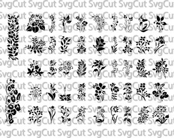 SVG Files Floral Swag silhouette cameo cricut design space Printable clipart Flower SVG Cutting File Printable Iron On Decal Heat Transfer