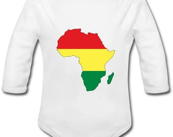 Africa - can be personalised with a name baby Bodysuit
