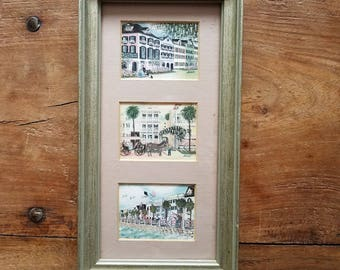 Bonnie Holden Signed Prints,  Charleston, Framed
