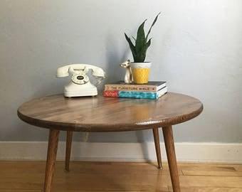 Mid Century Coffee Table Mid Century Table Circular Coffee Table Wood Coffee Table