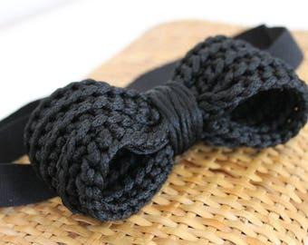 Crochet bow tie for men. Crochet Papillon for man.