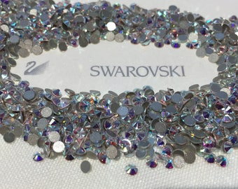 Genuine Swarovski Crystal Rhinestones flat back  - Crystal Clear AB Sealed Factory Pack SS5 TO SS20  Swarovski Rhinestones(1440pcs/pk)
