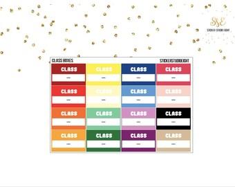 MultiColor: (LARGE) Class Boxes