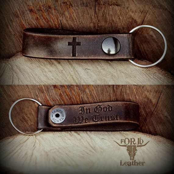 Personalized Leather Keychain,  Leather Keychain, Key Chain, Engraved Key Chain