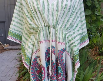 Cotton Kaftan~ 100% Cotton with tassles (short)