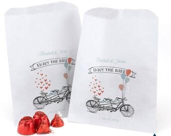 Tandem Treat Bags - White
