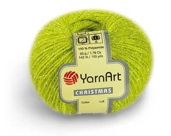 YarnArt CHRISTMAS -  100% polyamide - Choose color - Winter Yarn - Sparkle Yarn - Knitting Yarn - Crochet Yarn