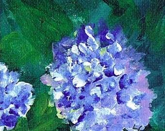 Purple Hydrangea 2 – Acrylic – Original Painting