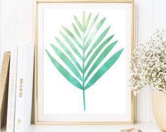 Summer palm leaf print