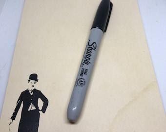 Charlie Chaplin vintage look notepad