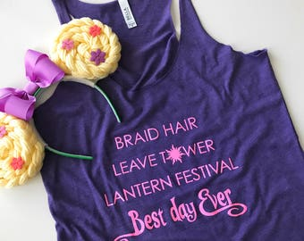 Punzie's Life Limited Edition Racerback Tank | Princess Rapunzel Tank | Best Day Ever Shirt | Disney Princess Shirt