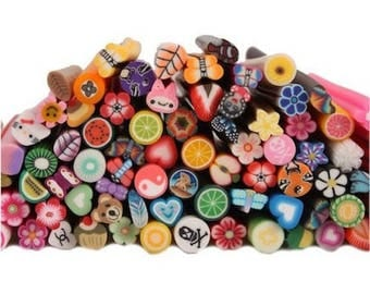 10 canes mixed 5 cm creating fimo polymer clay