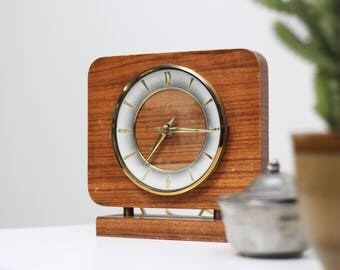 Vintage Electric Wooden Clock from the 1960s