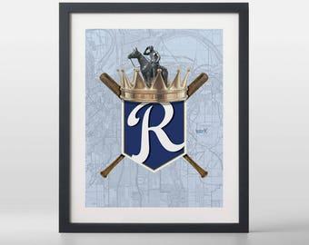 Kansas City Royals-inspired Baseball Art Print