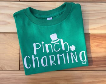 SALE Toddler Boy St. Patrick's Day Shirt, Boy St. Patrick's Day Shirt, St. Patrick's Day Shirt, St. Patty's Day Shirt, Pinch Charming