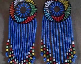 African Maasai Beaded Earrings | Sky Blue Zulu Beaded Earrings | Dangle Earrings | Tribal Earrings | Elegant | Gift For Her