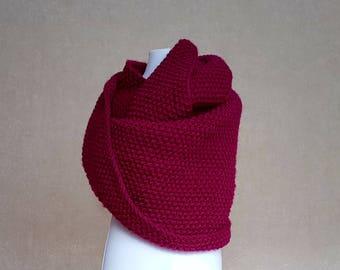 Hand knitted merino wool scraf, kids wrap, wool scraf for toddler, handmade shawlnfor kids, warm wrap