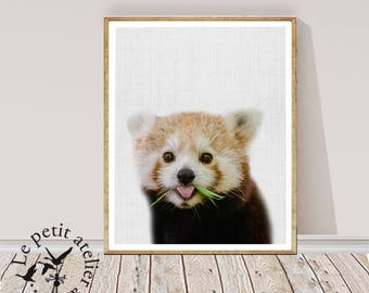 Weasel Print, Printable Wall Art, Woodland Animal, Nursery Decor, Digital Download, Forest Animals, Weasel  Decor, Large Poster