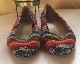 Colorful Tribal Flats Size 7