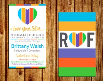 Rodan and Fields Business Card - Rodan + Fields Business Card Template - Double Sided - Digital - Personalized - YOU PRINT
