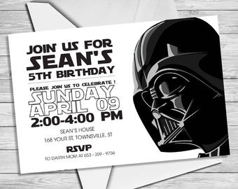 Star Wars Invitation - Star Wars Party Invitation- Star Wars Birthday Party Invite - Star Wars Party Printable- Darth Vader Invitation |SW_3