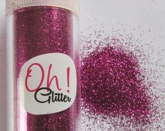 Solde -5% Fine glitter glitter pink Fuchsia in salt