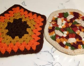 Retro Crochet Pot Holders