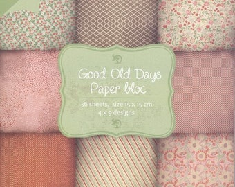 36 paper 15 x 15 cm JOY CRAFTS GOOD OLD DAYS