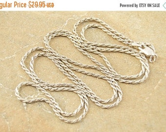 HUGE Sale Fancy Rope Link Chain Necklace Sterling Silver 8.7g