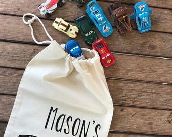 Personalised toy car bag