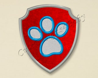Paw Patrol Ryder Badge applique embroidery design, Paw Patrol Machine Embroidery Designs, Embroidery designs for baby, Instant download #029