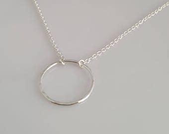 Minimalist Sterling Silver Circle pendant