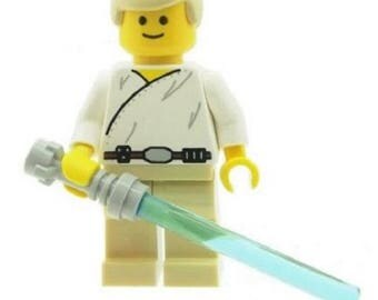 Star Wars Luke Skywalker with Lightsaber made from LEGO Parts Custom
