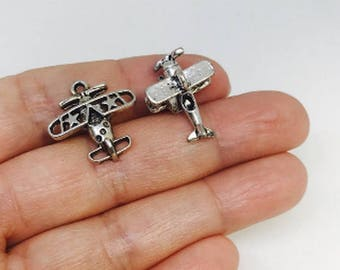 Airplane charm etsy 20pcs bomber charms aircraft charm airplane charm charm for bracelet charms for mozeypictures Gallery