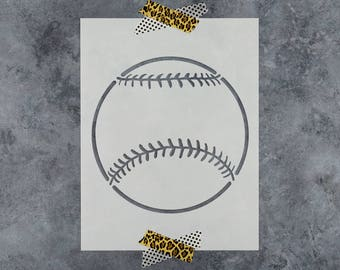 Baseball Stencil - Reusable DIY Craft Stencils of a Baseball