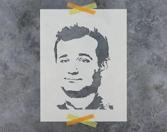 Bill Murray Stencil - Reusable DIY Craft Stencils of a Bill Murray