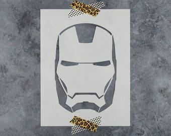 Ironman Stencil - Reusable DIY Craft Stencils of a Ironman Helmet