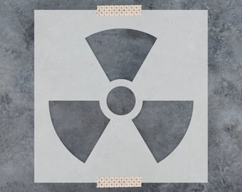 Radioactive Stencil - Reusable DIY Craft Stencils of a Radioactive Symbol