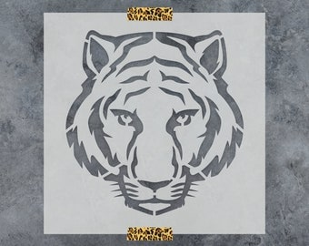 Tiger Stencil - Reusable DIY Craft Stencils of a Tiger