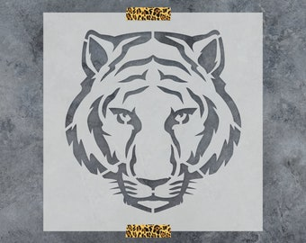 Tiger Stencil - Reusable DIY Craft Stencils of a Tiger