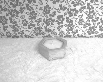Gardenia Soy Candle Hexagon Candle Holder