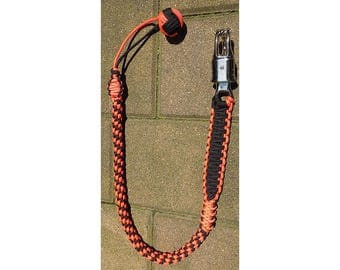 """Paracord Orange & Black with Monkey Fist 34"""" get back whip"""
